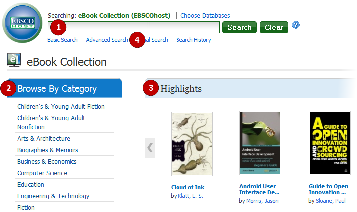 Searching EBSCO eBooks