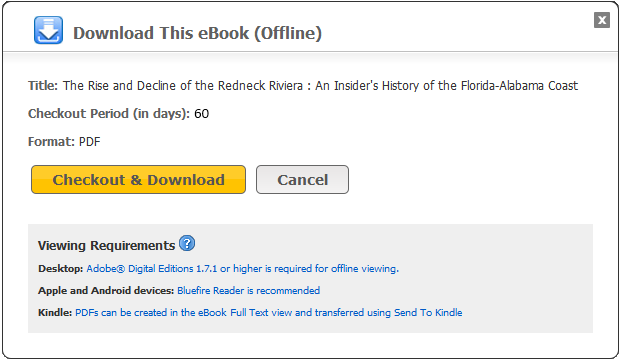 Downloading eBooks Offline