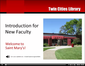 Library Introduction for New Faculty