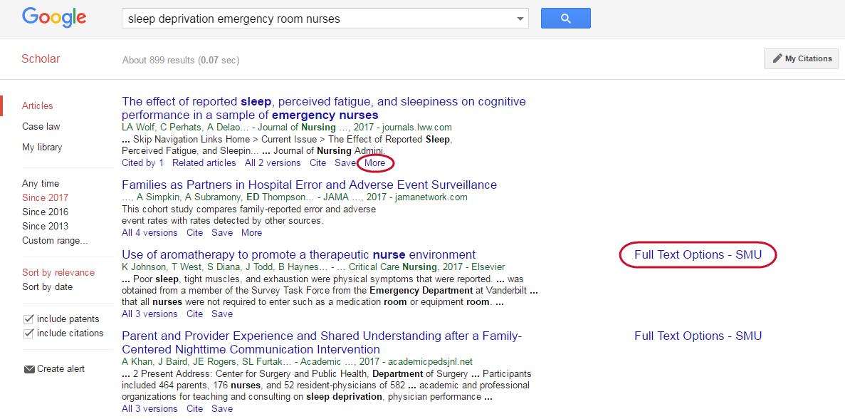 google article finder